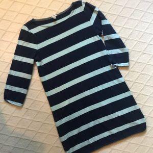 J. Crew Blue/Green Striped Dress